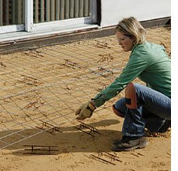 how to build a concreate patio