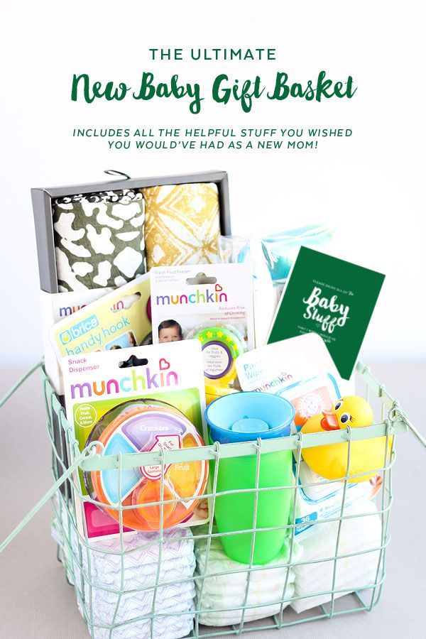 the Ultimate New Baby Gift Basket | Has all of the things I wish I had gotten with my first baby!