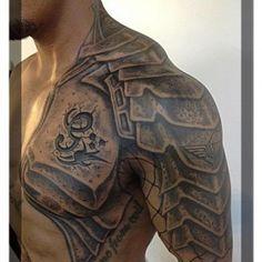 Armour shoulder tattoo