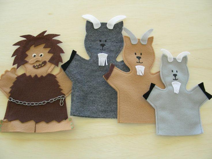 Three Billy Goats Gruff Puppets