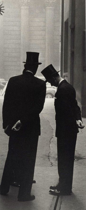 English Bankers in London by Robert Frank, 1952. (gelatin silver print)
