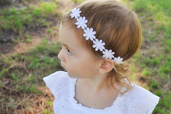 Baby Girl Headband Daisy Headband White Daisy Headband
