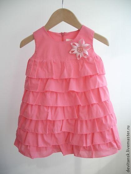 Платье для девочки нарядное летнее Розовое - повседневное платье,праздничное платье