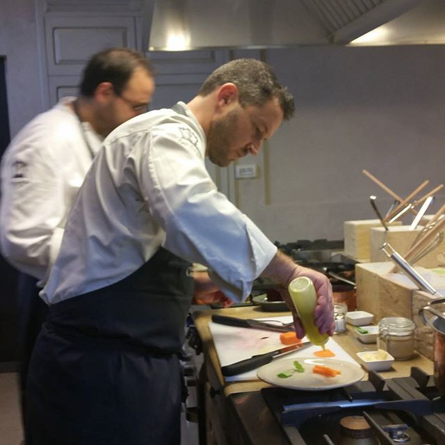 The chefs at work at the #borgocookingschool #openkitchen2015