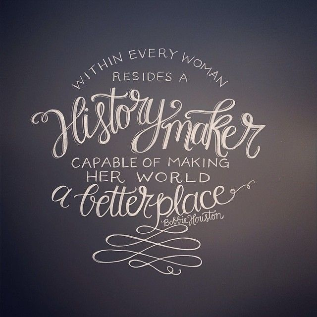 Bobbie Houston, lettering by Andrea Howey