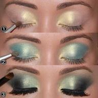 trying this: Eye Makeup, Color Combos, Eye Shadows, Blue Eye, Eyeshadows, Eyemakeup, Mermaids Eye, Smokey Eye, Green Eye
