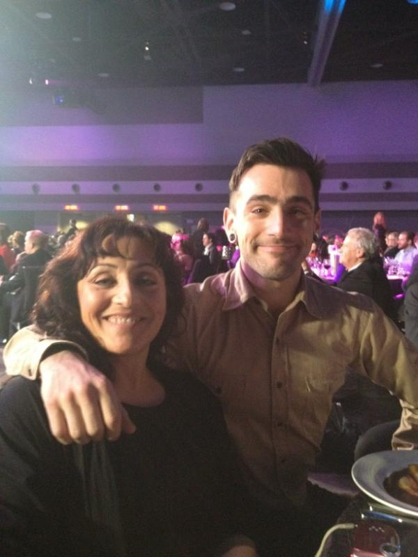 Jake's date for the Juno's Saturday night awards show - his momma :) That's my boy :)
