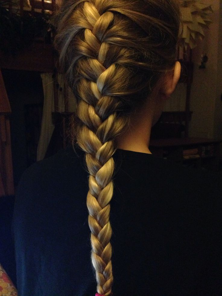 Pretty french braid on my daughter