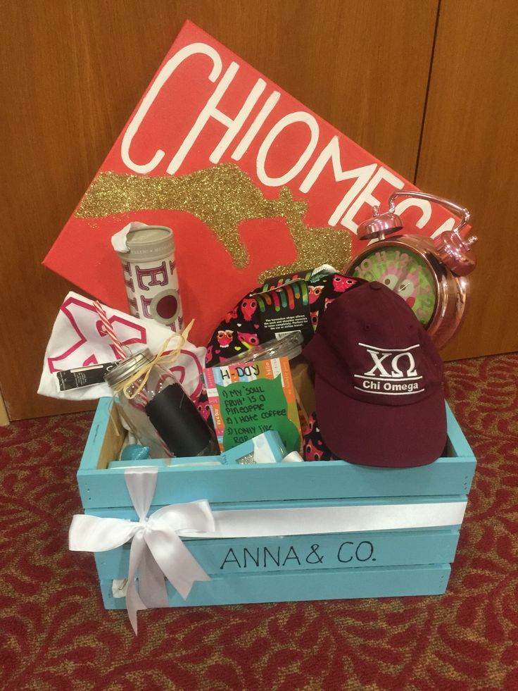 "Chi omega little basket ""H"" day (heirlooms/ hand me downs)"