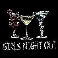 GIRLS NIGHT OUT Rhinestud Drinks NEW T Shirt S M L XL 2X 3X 4X *Free Shipping*: Free Ships, Girls Generation, Rhinestud Drinks, Girls Night Outs, Happy Place, Girly Stuff, Girlsdrinkfree Com, Friends Forever, 4X Free