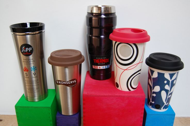 Skip the disposable paper + plastic coffee cup and opt for one of these reusable beauties.