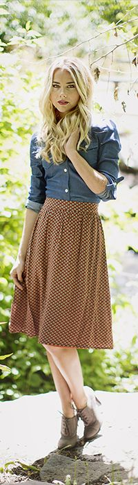 Rust Shell Skirt [MSF2031] - Mikarose Boutique, Reinventing Modesty
