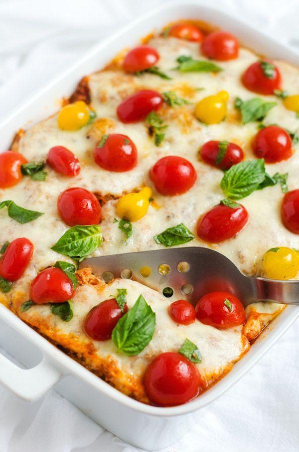 Italian Baked Quinoa with Fresh Tomato Topping