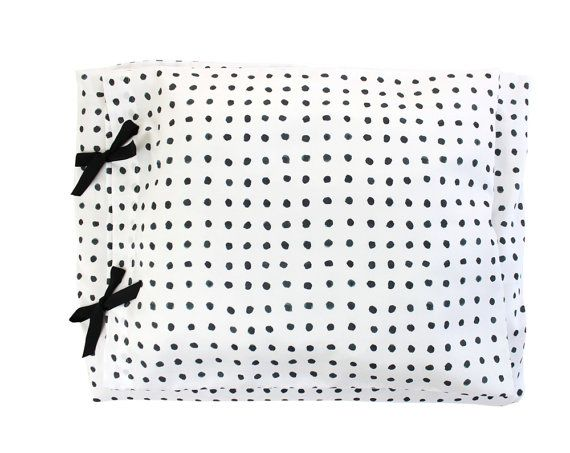 Watercolor Dots Bedding    Pure ORGANIC Crib / Toddler Duvet Cover + Pillowcase    Handmade bed linen in 100% certified organic cotton sateen.