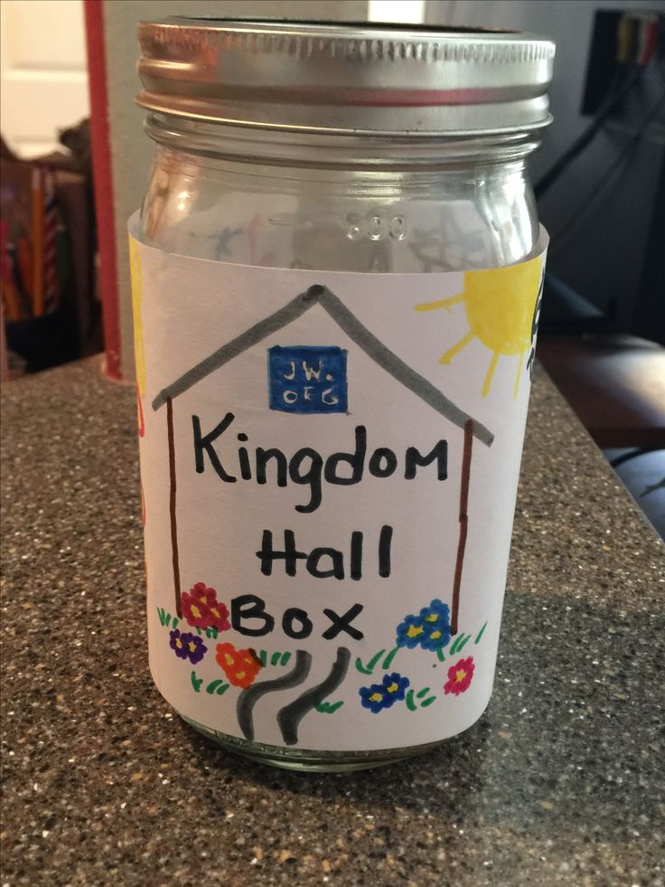 Family worship- make a piggie bank for money to contribute to the local Kingdom Hall and the worldwide work