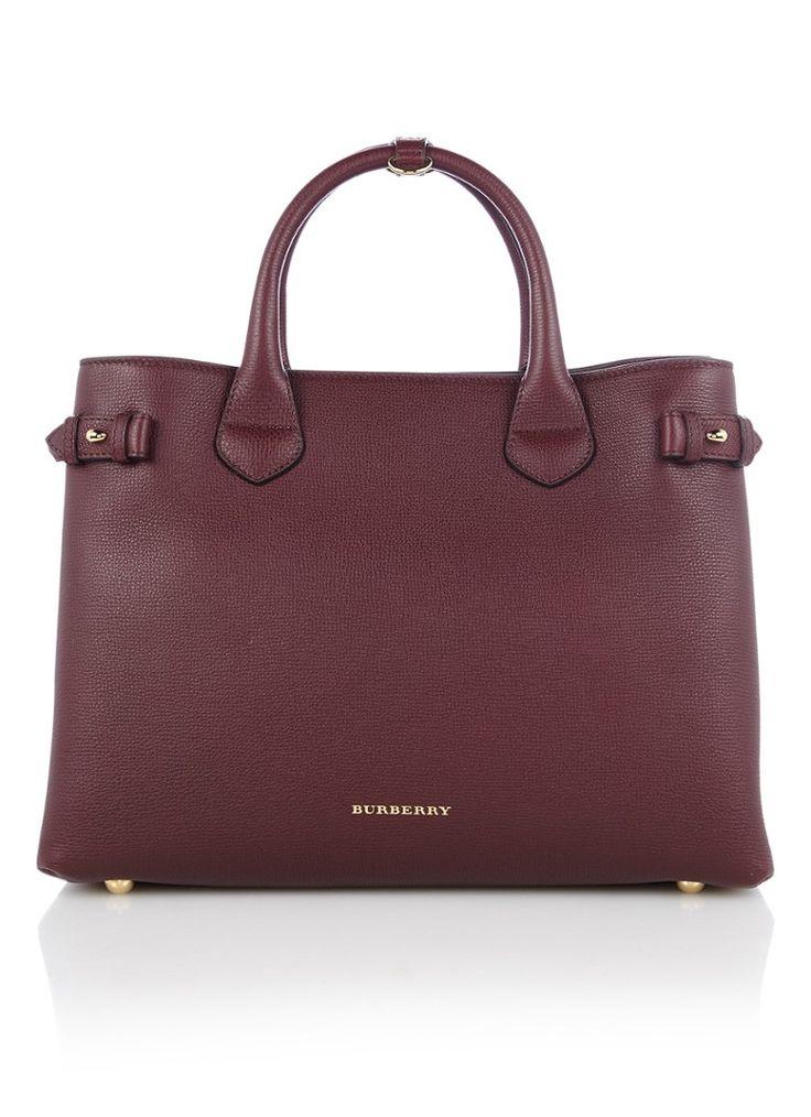 Burgundy Burberry bag