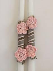 Αποτέλεσμα εικόνας για λαμπαδες πασχαλινες με βελονακι