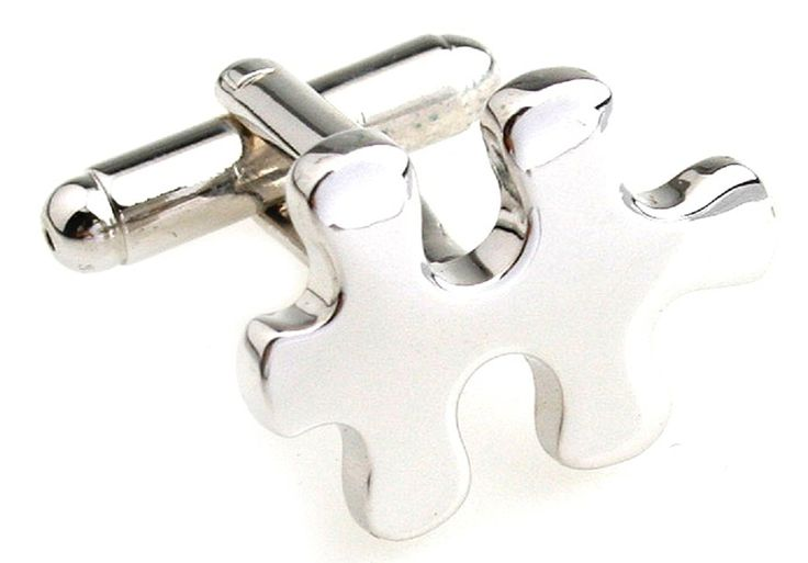 MRCUFF Puzzle Pieces Autism Awareness Pair Cufflinks in a Presentation Gift Box and Polishing Cloth -- Check this awesome image  : Gift for Guys