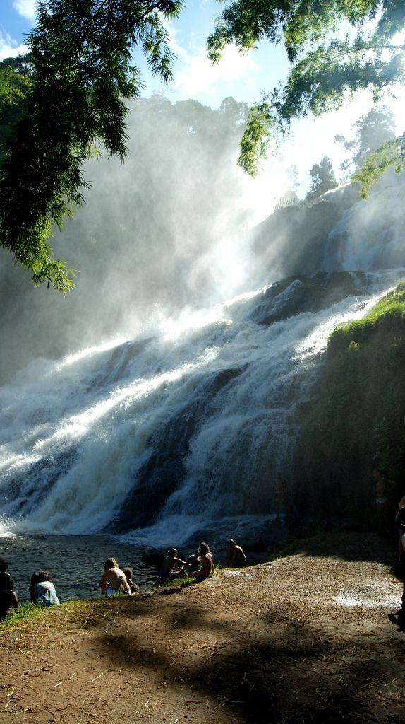 Cachoeira da Pancada Grande, em Ituberá, no estado da Bahia, Região Nordeste do Brasil.