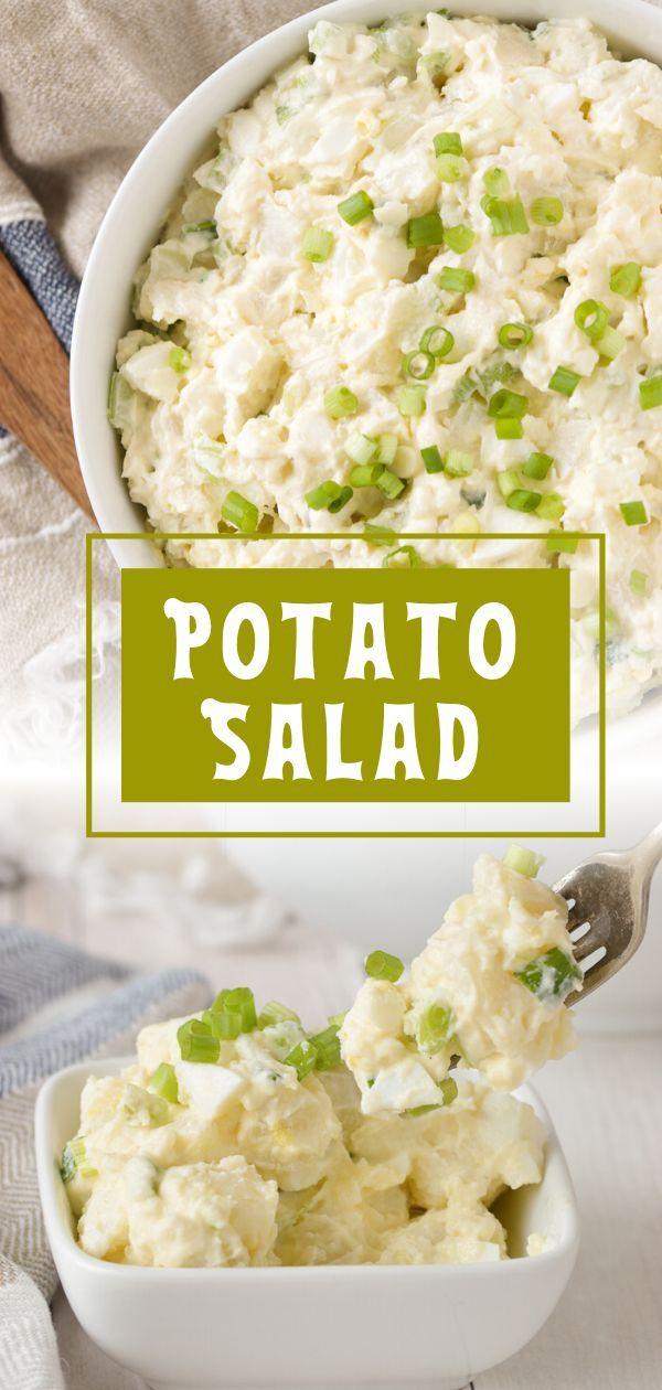 Creamy Potato Salad Recipe In 2020 Potatoe Salad Recipe Potato Salad Recipe Easy Potato Salad