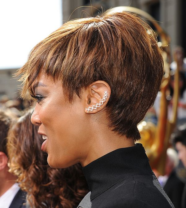 Tyra Banks heisser Pixie Cut