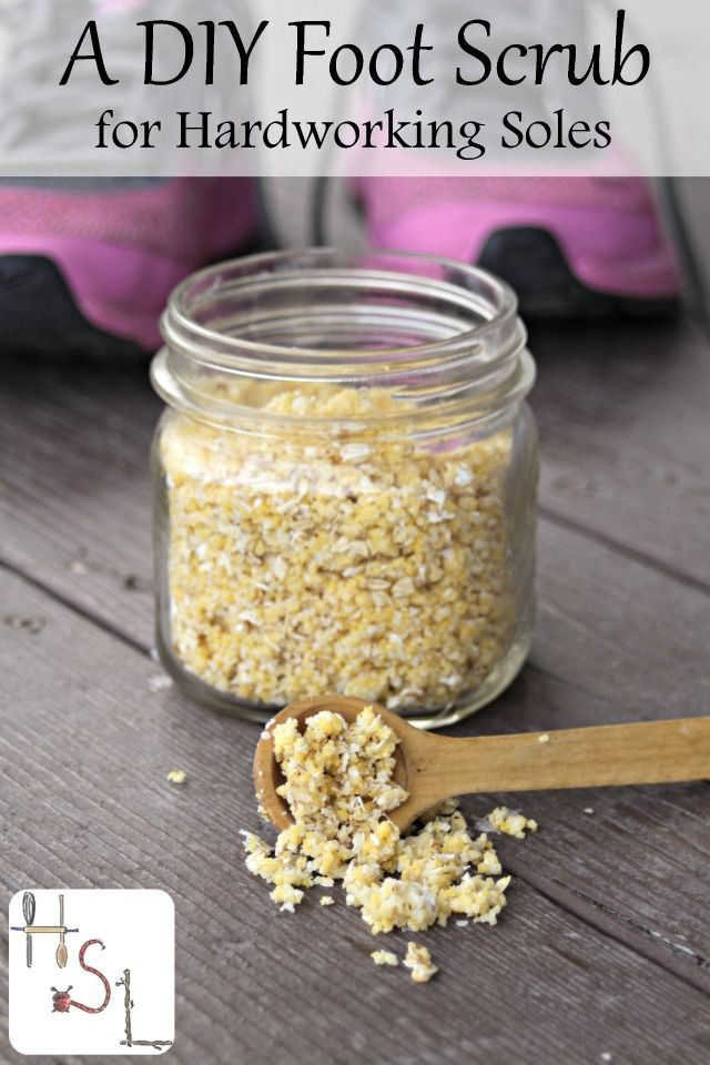 Loaded with natural and soothing scrubbing ingredients as well as moisturizing shea butter, this DIY foot scrub is sure to soothe and soften.