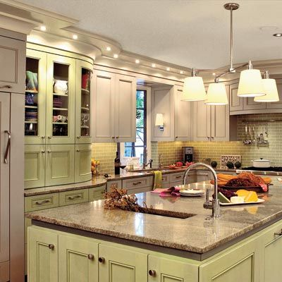 Sage green kitchens colors scheme and pistachio green spiced up