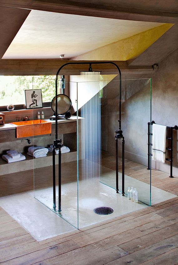 modern bathrooms in vintage style