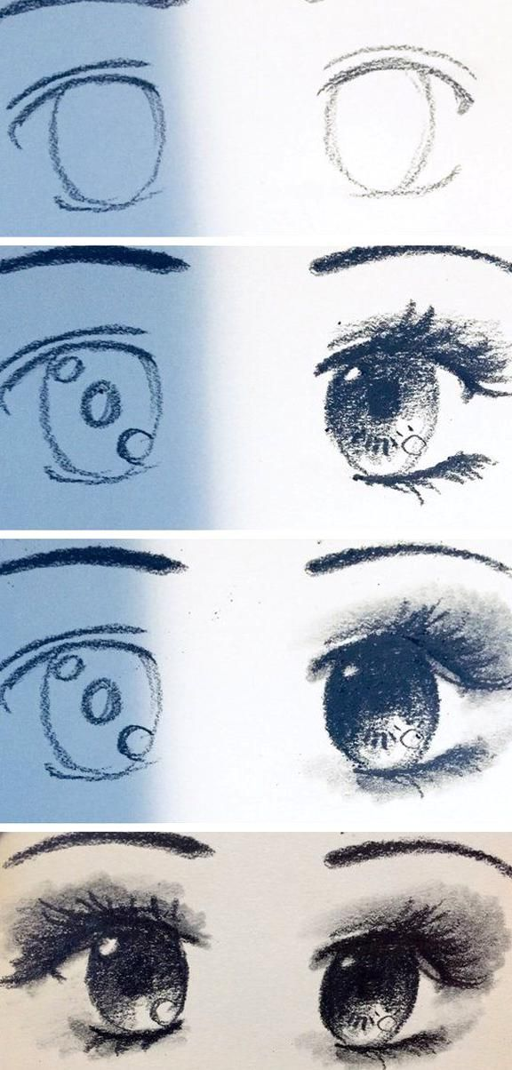 Anime Eyes Drawing Tutorial Steemit In 2020 Eye Drawing Tutorials How To Draw Anime Eyes Cute Eyes Drawing