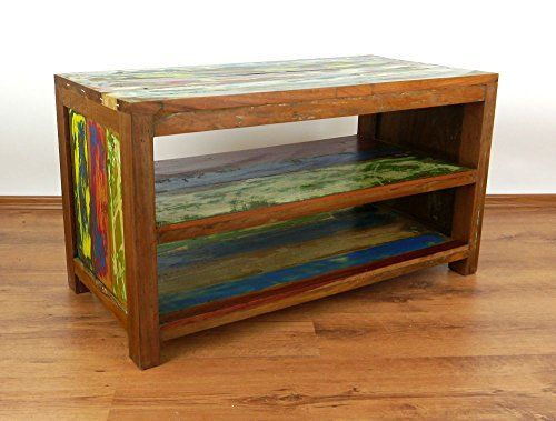 New Java Sideboard aus recyceltem bunten Teakholz Phonom bel TV Bank HiFi
