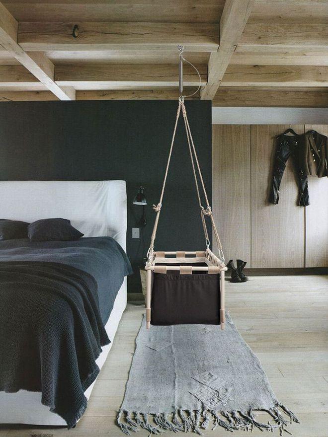 Danish brand Hussh hanging baby cradle  #baby #sleep #cradle #hussh #nursery #hangingcradle #bassinet