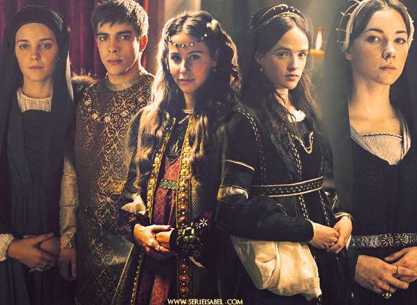 Isabel, Rainha de Portugal, João, Príncipe de Castela e  Aragão(morreu antes de se tornar Rei, tornando a sua irmã Joana a herdeira), Joanna, Rainha de Castela e Aragão, Maria, Rainha de Portugal (depois da morte da sua irmã Isabel), Catarina,  Rainha de Inglaterra.