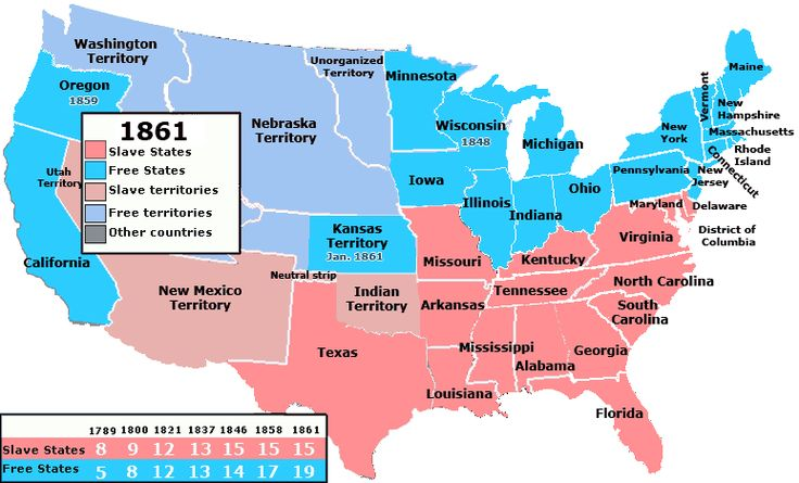 civilwarterritoriesmap and territories that allowed slavery