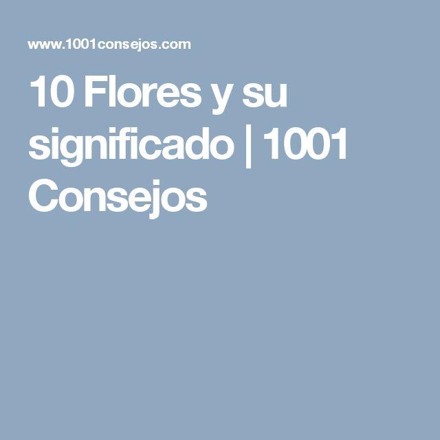 10 Flores y su significado | 1001 Consejos
