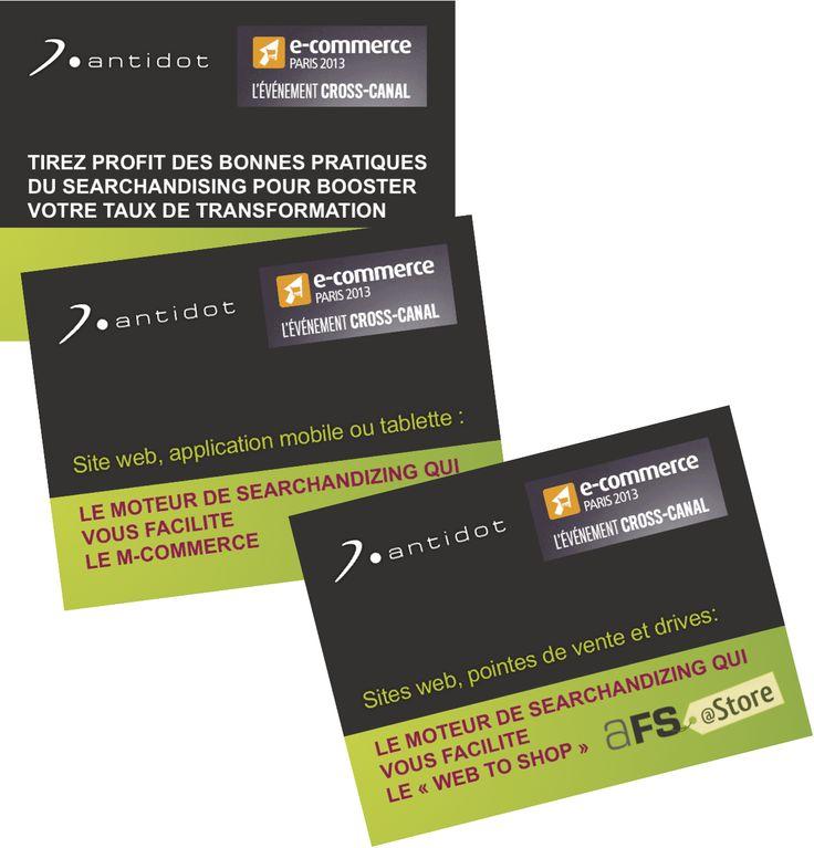 Les 3 conférences faites par Antidot sur E-Commerce 2013, avec le retour d'expérience de nos clients Top Office et Pecheur.com, sont en ligne sur notre site web !