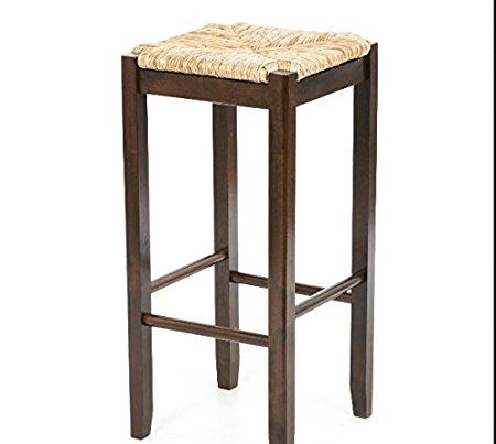 Amazon.com: Wicker Rattan Wood Bar Stools Counter Height 29 Inches Set of 2 Fabric At Home Bars For Kitchen Discount And Unique Discounted Inexpensive 2 Piece Best Furniture Fun Breakfest Antique Stool Cheap: Kitchen & Dining