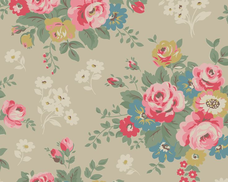 Rose Bunch - downloadable wallpaper ~ Cath KidstonCathkidston, Black Rose, Romantic Vintage, Vintage Floral, Desktop Backgrounds, Cath Kidston, Desktop Wallpapers, Computers Wallpapers, Flower Pattern