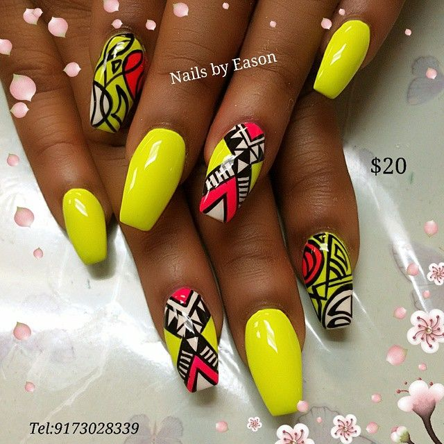 Coffin spring/summer nails @KortenStEiN