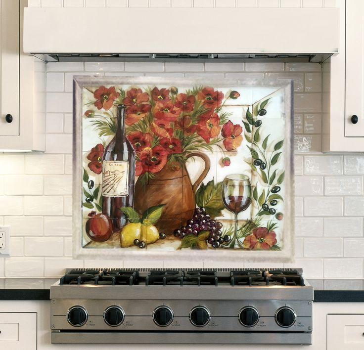 Modern Kitchen Murals 51 best tre sorelle hand-painted tile murals images on pinterest