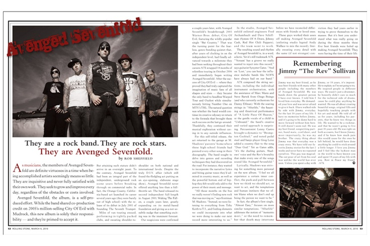 spread for music magazine