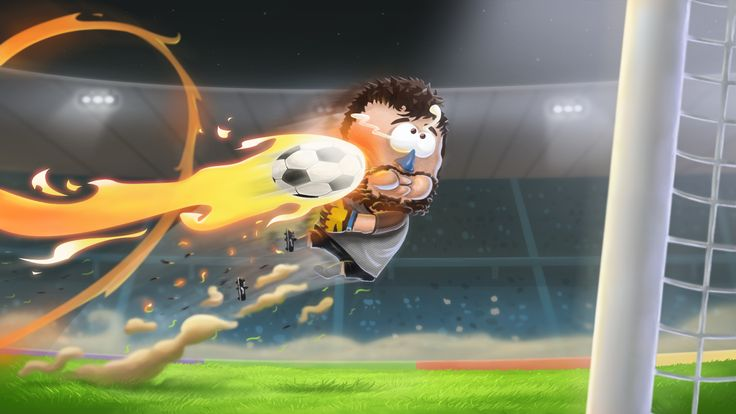 Another awesome Kopanito All-Stars Soccer illustration made by our brilliant Graphic Designer! That's gotta hurt #soccer #art #football #game