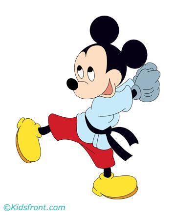 Mickey Mouse 4 Coloring Pages Printable gif