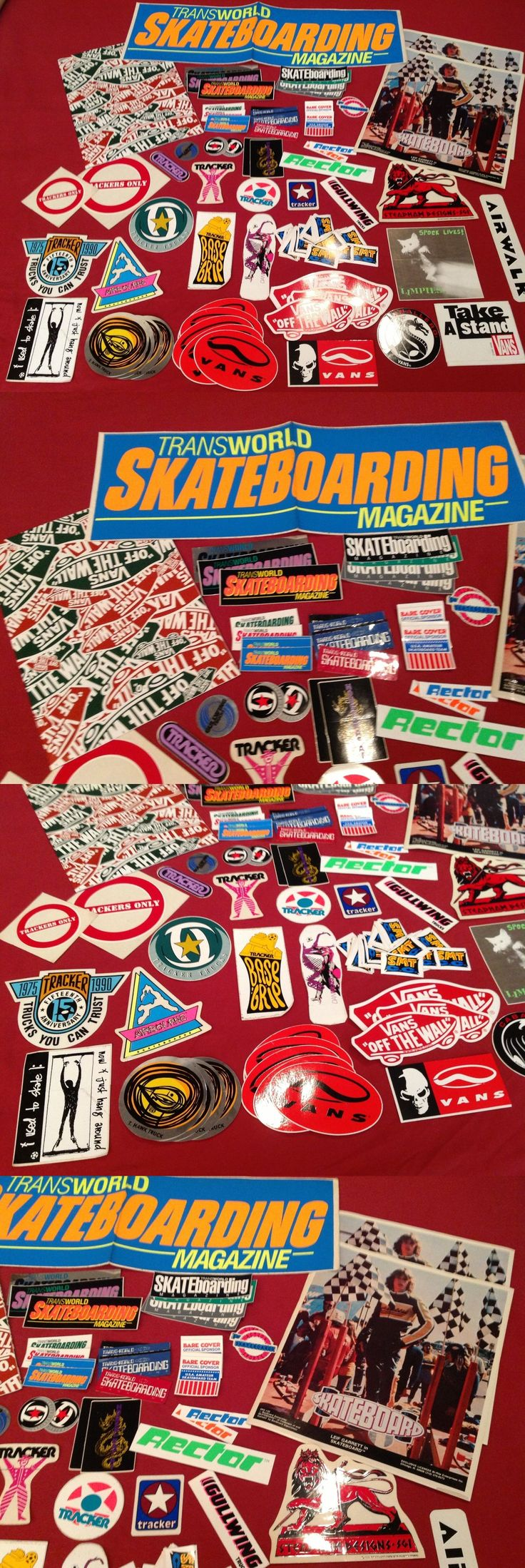 Stickers and Decals 47357: Lot Of X85 Old School Skateboard Stickers Tracker Vans Transworld Hawk Nos New -> BUY IT NOW ONLY: $99 on eBay!
