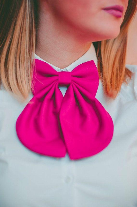 Fuchsia Matte Women's Bow Tie Genuine New by #BowsByVaniaSzasz #Etsy