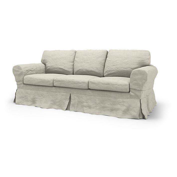 Ektorp Sofabezuge 3er Loose Fit Country Diesen Stoff Anwenden Brera Lino Natural Sofas Im Landhausstil Sofa Bezug 3er Sofa