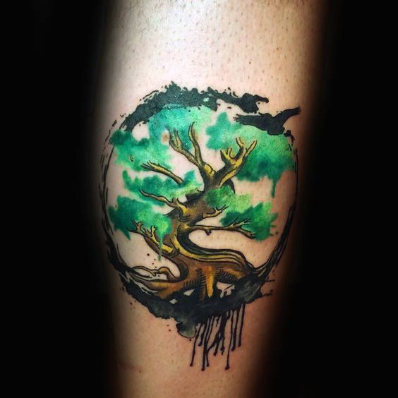 Aquarell Designs Ideen Manly Nature Tattoo 70 Aquarell