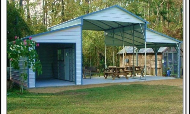 17 best attached carport ideas on pinterest carport for Carport with storage shed attached