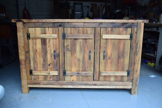 Reclaimed Wood Rustic Buffet, Farmhouse Buffet Table, Entryway Table, Dining Room, TV stand