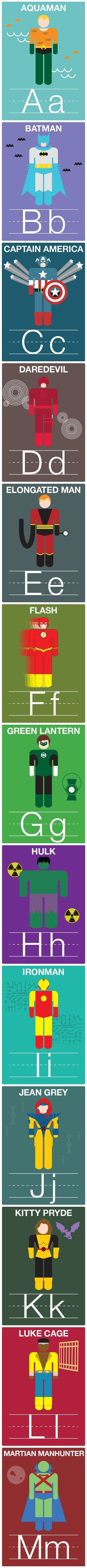A-M Superhero Alphabet Cards (P. Mizzey)                                                                                                                                                      More