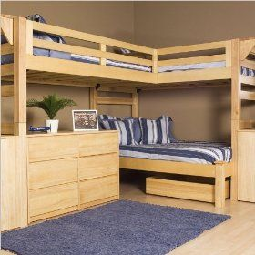 Triple Bunk bed. Perfect for children all the same gender sharing a room! I'll have to remember this if we have all girls